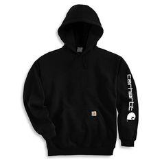 Carhartt Men's Hooded Logo-Sleeve Sweatshirt