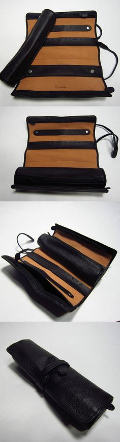 Multi-Purpose 168165: Cambridge Leather Jewelry Roll Organizer Travel Case W Removable Pouch 3 Zippers -> BUY IT NOW ONLY: $35.85 on eBay!