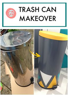Dont throw away your old rubbish bin/trash can! Give it a makeover with some paint