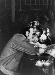 James Dean at his Sherman Oaks home, 1955.