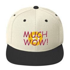 This hat is structured with a classic fit, flat brim, and full buckram. The adjustable snap closure makes it a comfortable, one-size-fits-most hat. Much Wow, Doge, Snapback Hats, Camo, Ted, Baseball Hats, Style, Camouflage, Swag