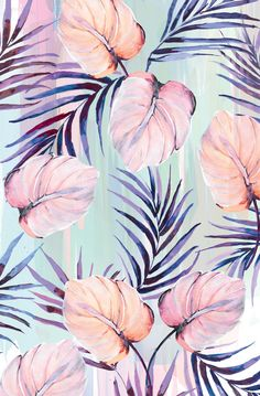 Nikki Strange pastel powder palms