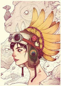 Beautiful Portraits by Ario Anindito | InspireFirst #itsmesimonok, #illustration