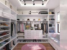 minimalistische Ankleidezimmer von Giovani Design Studio