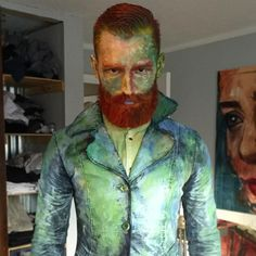 Did the Van Gogh makeup years ago for Halloween.. Did an updated version this year.