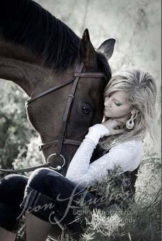 the friendship between a girl and her horse.. priceless