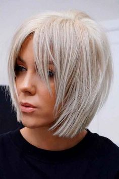 Stunning Medium Layered Bob Hairstyle For Every Woman medium layered bob hairstyle;bob hairstyles for fine hair;short hairstyle trending hairstylesmedium layered bob hairstyle;bob hairstyles for fine hair;short hairstyle trending hairstyles Bob Hairstyles For Fine Hair, Layered Bob Hairstyles, Short Bob Haircuts, Haircuts With Bangs, Trending Hairstyles, Pixie Hairstyles, Short Hairstyles For Women, Black Hairstyles, Pretty Hairstyles