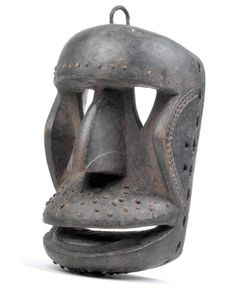 Dan/Kran/We, Ivory Coast, Liberia: An old chimpanzee mask of the 'Kagle' (or 'Kaogle') type.