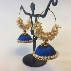Handmade Silk Thread Earrings - Sarang Silk Thread Jhumkas, Silk Thread Necklace, Silk Thread Bangles, Diy Tassel Earrings, Crochet Earrings, Silk Hair, Bangle Set, Types Of Dresses, Different Colors