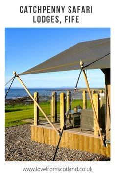 Glamping in Scotland at Catchpenny Safari Lodges in Fife