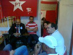 Presença de Alberes Lima, Presidente do PT-Rio apoiando o Grito de lançamento da Campanha Flavia Pinto 13277