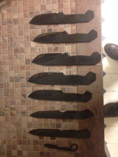 My first batch of knives after heat treating I'm gonna give them all as Christmas presents