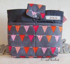 Taschenorganizer  Wimpelkette grau von milUnikat auf DaWanda.com