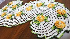 Crochet a Spiral Doily - part 2     كروشيه مفرشة حلزونية رائعة - الجزء ا...