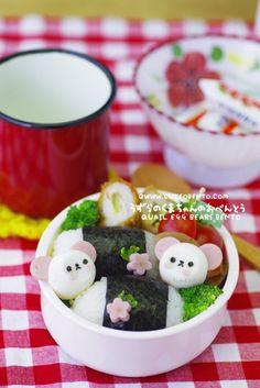 Quail Eggs Bears Bento
