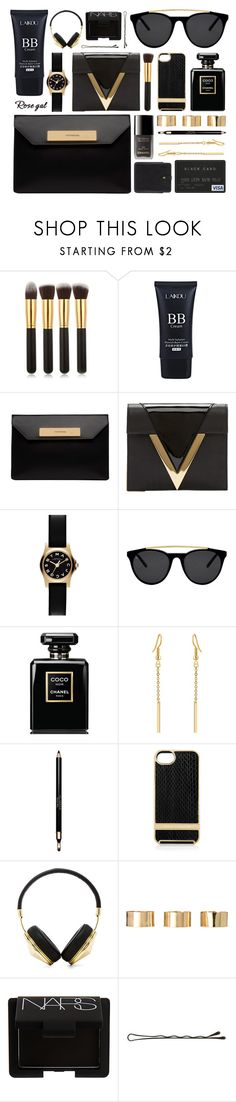 """""""Rosegal"""" by ruska-10 ❤ liked on Polyvore featuring Balenciaga, Versus, Marc by Marc Jacobs, Smoke x Mirrors, Chanel, Clarins, Linda Farrow, Frends, ASOS and NARS Cosmetics"""