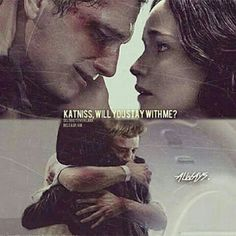 Peeta: 'Katniss, will you stay with me?' Katniss: 'always'.... Aaaaahw! Peeta hijacked! #hungergames