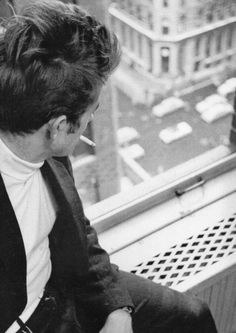 James Dean New York City 1955. James Dean in his apartment on...