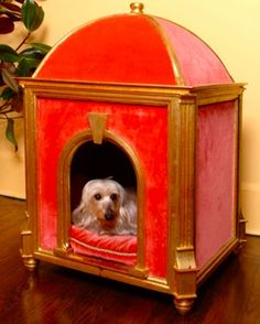 Outdoor and Indoor Dog House Design Ideas - Modern Home Decorating Ideas Dog Kennel Cover, Diy Dog Kennel, Dog House Bed, Cool Dog Houses, Cat Houses, Pet Hotel, Cool Dog Beds, Pet Furniture, Pet Beds