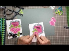 Acetate Window Card - Gina K. Designs Stamp Sets Frame and Flowers 1 & 2 Other supplies Used: Gina K. Card Making Tips, Card Making Tutorials, Card Making Techniques, Making Ideas, Fun Fold Cards, Cool Cards, Acetate Cards, Altenew Cards, Window Cards