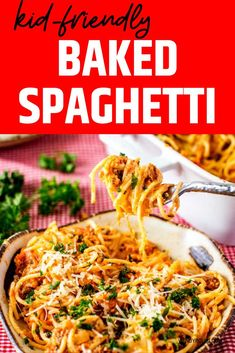 This gluten free casserole that you can make on the weekend for meal prep is PERFECT for my healthy diet.  I am so happy I found this Kid-Friendly Baked Spaghetti.  Is is easy to make and SO full of flavor. #wendypolisi #dinner #healthy #easydinner #Spaghetti casserole #recipe Gluten Free Recipes For Breakfast, Healthy Gluten Free Recipes, Gluten Free Dinner, Healthy Recipes For Weight Loss, Baked Spaghetti With Ricotta, Pasta Substitute, Spaghetti Casserole, Easy Food To Make, Healthy Dinner Recipes