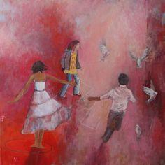 Les Petits Riens 80cm x 80cm Acrylics on canvas 2011