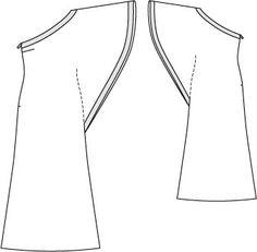 KAFTAN - Burdastyle pattern - One Shoulder Maxi 06/2013 #106