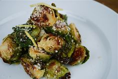 Lemony Roasted Brussels Sprouts: I'm going to combine this with the pomegranate recipe