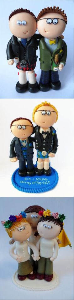 Made to look like you in any outfits or poses you want. I allow for 2 free small props per couple to show jobs/hobbies/interests. I can also add yo. Unique Cake Toppers, Personalized Cake Toppers, Wedding Cake Toppers, Cupcake Toppers, Lgbt Wedding, Wedding Couples, Unusual Wedding Cakes, Hobbies And Interests, Wedding Officiant