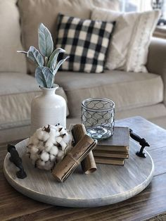 67 Rustic Tray Ideas To Style Your Coffee Table coffee table tray decor;rustic tray decors; Farmhouse Table Centerpieces, Farmhouse Table Decor, Centerpiece Decorations, Decoration Table, Rustic Decor, Decoration Restaurant, Decoration Crafts, Farmhouse Ideas, Farmhouse Style