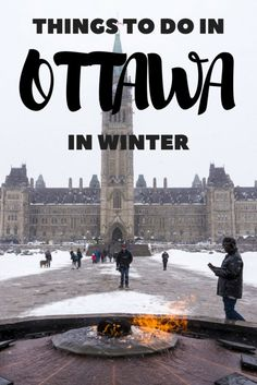 Things to do in Ottawa in Winter. From Winterlude to skating the Rideau Canal (a UNESCO World Heritage Site), there are lots of fun winter activities! Toronto, Ottowa Canada, Canada Winter, Backpacking Canada, Vancouver, Canadian Travel, Canadian Rockies, Ontario Travel, Visit Canada