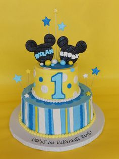 Baby Mickey 1st Birthday cake