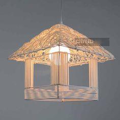 Aliexpress.com : Buy Modern Novelty Innovative Cane Knit Pendant Lamp House Shape E27 Handmade Rattan Weave Art Luminaire Deco Luster Lights from Reliable e27 110v suppliers on Latin Lighting