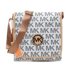 Michael Kors Outlet Jet Set Travel Logo Large Grey Crossbody Bags