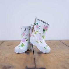 SweetHoney - Cheery Rain Boots - Flower Drip - Smallwoods