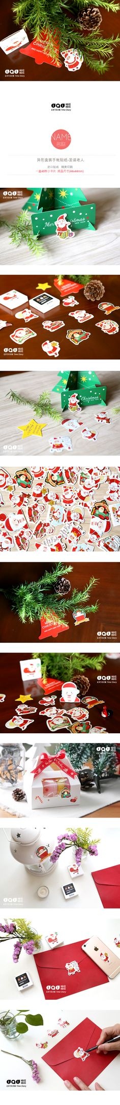 45 pcs/pack Merry Christmas Santa Clause Decorative Sticker Diary Album Label Stickers DIY Stationery Stickers Gift Sticker