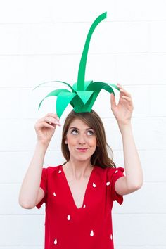 DIY Strawbery Costume