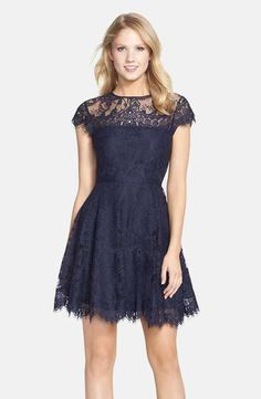 BB Dakota 'Rhianna' Illusion Yoke Lace Fit & Flare Dress (Nordstrom Exclusive) - would make a lovely bridesmaid dress