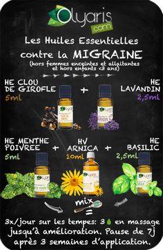 synergie aux huiles essentielles pour soulager la migraine - Olyaris