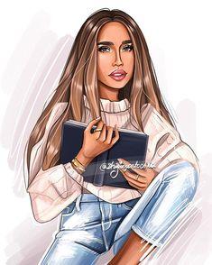Image may contain: 1 person Cartoon Styles, Cartoon Art, Sarra Art, Comic Art Girls, Girly M, Fashion Typography, Anime Pixel Art, Modelos Fashion, People Illustration