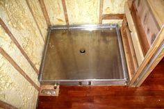 ProtoHaus is a micro-house built for sustainable living. Tiny House Shower, Tiny House Bathroom, Tiny House Trailer, Tiny House On Wheels, Micro House, House 2, Custom Shower Pan, Portable Sheds, House Built