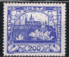Czech postage stamp of Hradcany Castle by Alphonse Mucha, 1918/19