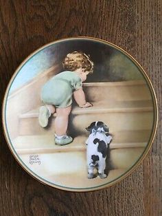 L imited edition collectors plate based on original art by Bessie Pease Gutmann. From The Hamilton Collection.