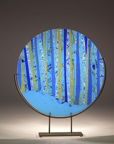 Ocean Glass Sculpture by Varda Avnisan: Art Glass Sculpture available at www.artfulhome.com