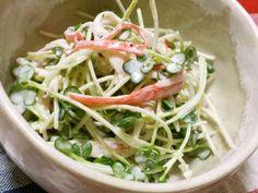 簡単副菜。かにかまかいわれマヨ和えの画像