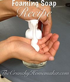 Easy Soap Recipe {Foaming Hand Soap}