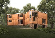 Fisher House - Hatboro (USA) - Architecte : Louis Kahn. Louis Isadore Kahn, (né Itze-Leib Schmuilowsky, le 20 février 1901 à Kuressaare - mort le 17 mars 1974 à New York) , est un architecte américain, d'origine estonienne. Il est considéré comme l'un des plus grands architectes du XXe siècle.