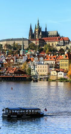 Hradčany district of Prague, seen across the Vltava River