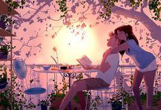 40 Romantic Digital Illustrations by Pascal Campion Couple Illustration, Illustration Art, Pascal Campion, Cute Couple Art, Couple Cartoon, Couple Drawings, Storyboard, Cartoon Art, Love Art