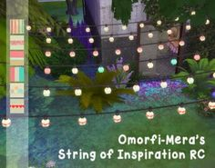 My Sims 4 Blog: OmorfiMera's String of Inspiration Lights Recolors by Reivan13: